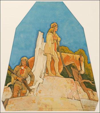The Mountain Men - Maynard Dixon reproduction oil painting