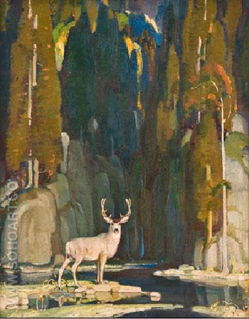 Heart of the Wilderness - W Herbert Dunton reproduction oil painting