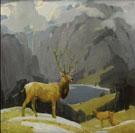 In the Tetons - W Herbert Dunton