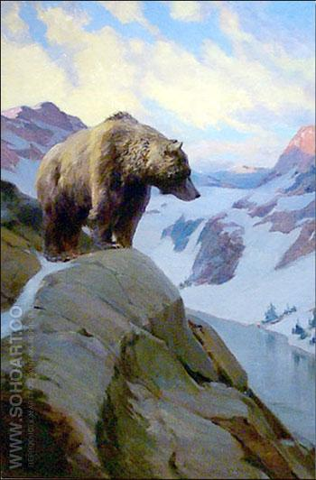 Monarch of All He Surveys - W Herbert Dunton reproduction oil painting
