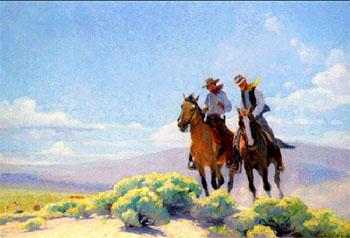 Open Range - W Herbert Dunton reproduction oil painting