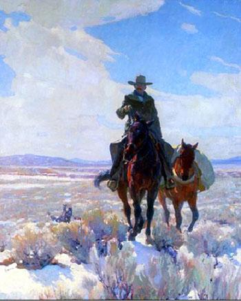 Start for the Hills - W Herbert Dunton reproduction oil painting