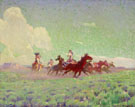 The Enemies Horses - W Herbert Dunton reproduction oil painting