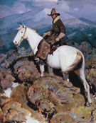 The Horse Rustler - W Herbert Dunton reproduction oil painting