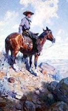 Western American Cowboy Painting 1906 - W Herbert Dunton