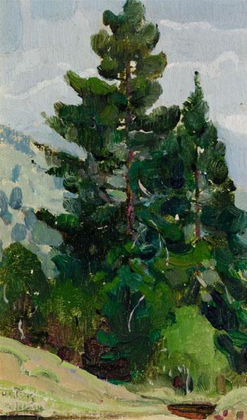 Forest Landscape - W Herbert Dunton reproduction oil painting