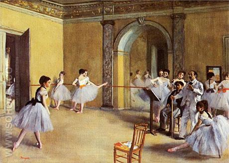 Dance Class at the Opera 1872 - Edgar Degas reproduction oil painting