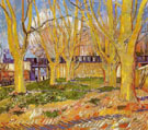 Avenue of Plane Trees Near Arles - Vincent van Gogh reproduction oil painting