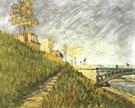 Berges de La Seine du Pont de Clichy 1887 - Vincent van Gogh reproduction oil painting