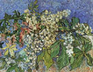 Blossoming Chestnut Branches - Vincent van Gogh reproduction oil painting
