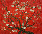 Branches of Almond Tree in Blossom in Red - Vincent van Gogh reproduction oil painting