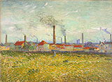 Factories at Asnieres Seen from the Quay de Clichy - Vincent van Gogh reproduction oil painting