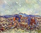 Farmers at Work - Vincent van Gogh