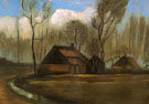 Farmhouses Among Trees - Vincent van Gogh reproduction oil painting