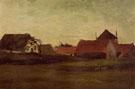 Farmhouses in Lossduinen Near the Hagueat Twilight - Vincent van Gogh