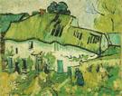 Ferme Avec Deux Paysans 1890 - Vincent van Gogh