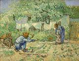 First Steps After Millet 1890 - Vincent van Gogh