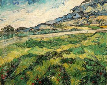 Green Wheat Field - Vincent van Gogh reproduction oil painting