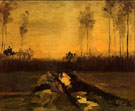 Landscape at Dusk - Vincent van Gogh