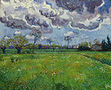 Landscape under Stormy Skies - Vincent van Gogh