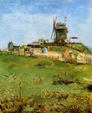 Le Moulin de La Galette A - Vincent van Gogh reproduction oil painting
