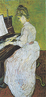 Mademoiselle Gachet at Piano - Vincent van Gogh