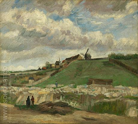 Montmartre the Quarry and Wind - Vincent van Gogh reproduction oil painting
