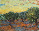 Olive Grove Orange Sky November 1889 - Vincent van Gogh