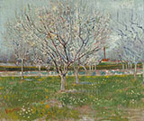 Orchard in Blossom - Vincent van Gogh reproduction oil painting