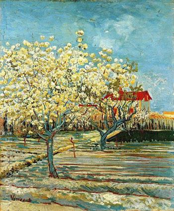 Orchard in Blossom B - Vincent van Gogh reproduction oil painting