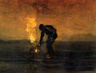 Peasant Burning Weeds - Vincent van Gogh