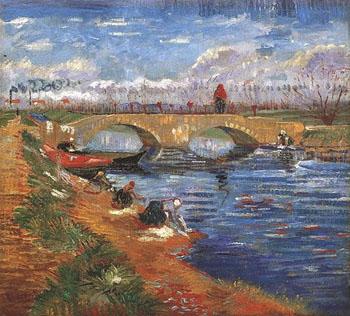 Pont Sur Le Canal Vigueirat 1888 - Vincent van Gogh reproduction oil painting
