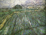 Rain 1889 - Vincent van Gogh