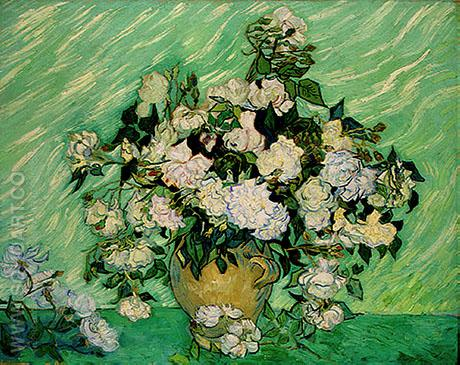 Vase with Roses - Vincent van Gogh reproduction oil painting