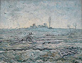 Snow Covered Field with a Harrow After Millet 1890 - Vincent van Gogh