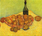 Still Life with a Bottle of Lemons and Oranges - Vincent van Gogh