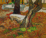 Stone Bench in the Garden of Saint Paul Hospital the November 1889 - Vincent van Gogh
