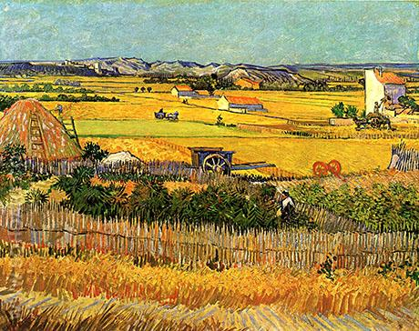 The Harvest La Crau 1888 - Vincent van Gogh reproduction oil painting