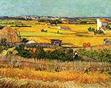 The Harvest La Crau 1888 - Vincent van Gogh
