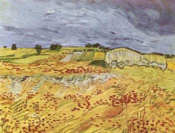 The Plain at Auvers - Vincent van Gogh reproduction oil painting