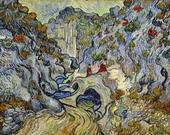 The Ravine Les Peiroulets December 1889 - Vincent van Gogh reproduction oil painting