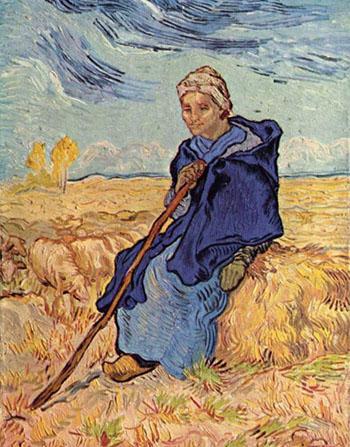 The Shepherdess - Vincent van Gogh reproduction oil painting