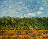 The Wheat Field with a Lark 1887 - Vincent van Gogh