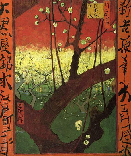 Plum Tree in Bloom After Hiroshige - Vincent van Gogh reproduction oil painting