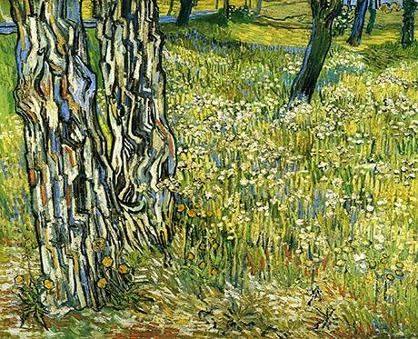 Tree Trunks in the Grass c1890 - Vincent van Gogh reproduction oil painting
