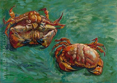 Two Crabs - Vincent van Gogh reproduction oil painting