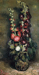 Vase with Hollyhocks - Vincent van Gogh