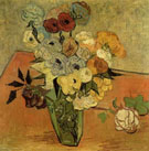 Vase with Roses and Anemones - Vincent van Gogh
