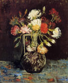 Vase with White and Red Carnations - Vincent van Gogh