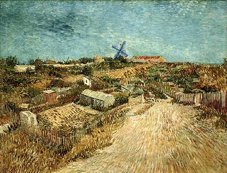 Vegetable Gardens in Montmartre - Vincent van Gogh reproduction oil painting